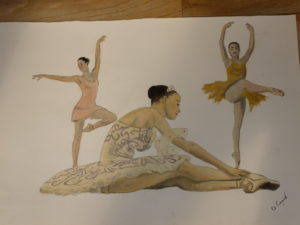 Ballerinas by Portrait of Charles Dickens