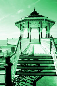 Bandstand in green by Helen Howard