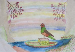 Bird on Boat by Barrington G