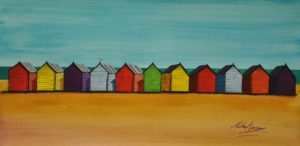 Beach Huts by Michael George