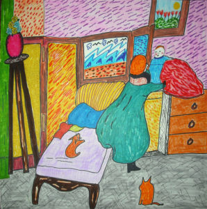 Bedroom with Cats by Ese Imonioro