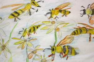 Bees – Queen Bee (detail) by Fran Reid