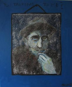 Billy Childish Looking In The Mirror by Gina Bold