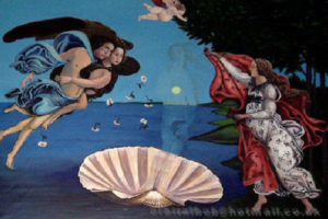 Birth of Venus (- map)  extended to original height with cupid by Robert Pullar