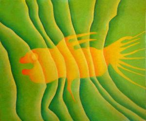 Blind goldfish by John Lincoln