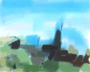 Kirkstall Landscape by Watercolour sketch 2