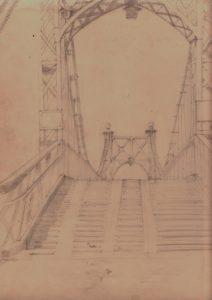 Port Hill Footbridge by blodwyn jones
