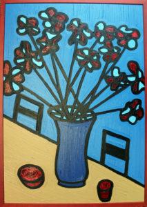 Blue Floral by schwarcz