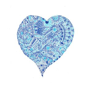 Blue heart by Michael Rattray