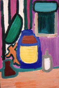 Blue Jug and Little Man by Jenny Lewis