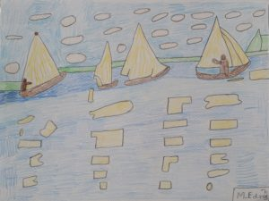 Boats on water by Daisy Rose
