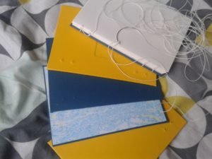 bookbinding with coptic stitch sewing by claire Brennan