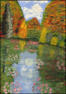 A Copy of the Famous 'Monet's Garden' as it is in September When all the Waterlillies are out and on Display by Bernard Parker