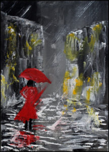 Somebody in a Rush to Get Out of the Rain by Bernard Parker