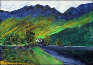 An Artist's Retreat in the Mountains by Bernard Parker