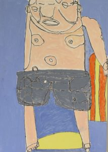 Man in Shorts by Brenda Cook