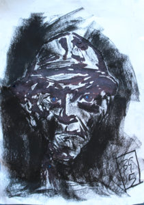 Blue-Eyed Self Portrait by Brian Gorman