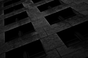 Building in Charcoal 1 by Peter Kyte