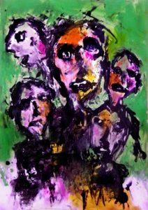 Bunch Of Thinkers In A Dormitorium by Nuno  Evaristo