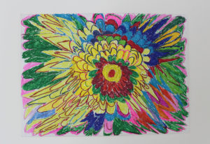 Bursting Colour Flowers by Maria Smith