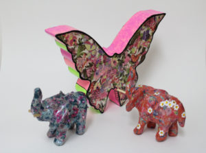 Butterfly and Two Elephants by Hannah Rogers