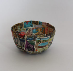 Papermache bowl by Romilly Jardine