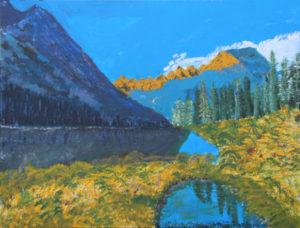 Canadian Mountains by Bernard Parker
