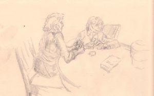 card players by blodwyn jones