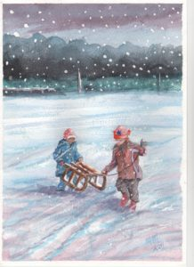 Winter play by Michael Morrison