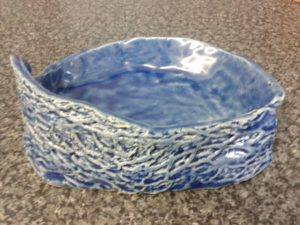Small blue dish by claire Brennan