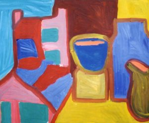 Chair and Pots by Jenny Lewis