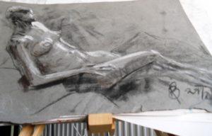 resting woman by blodwyn jones