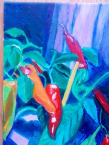 The Chilli Pepper Plant by Maureen Oliver