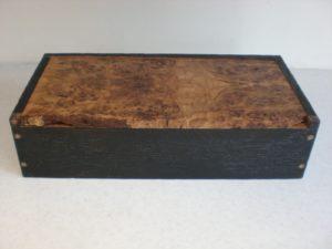 Scorched Oak Box with Burr Oak Lid by Sue Burbidge