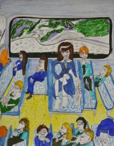 School Bus (Poser) by Clare Barnard