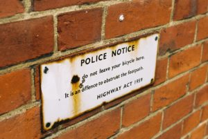 Notice On Wall by Untitled