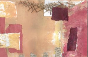 Mixed media collage 1 by jess levine