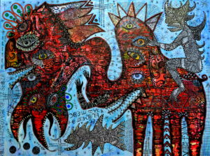 __come_back_to_the_source_____mixed_media_on_box_canvas_80cm_x_60cm by greg bromley
