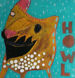 COPING WOLF FULL OF COPING PILLS by Steve Murison