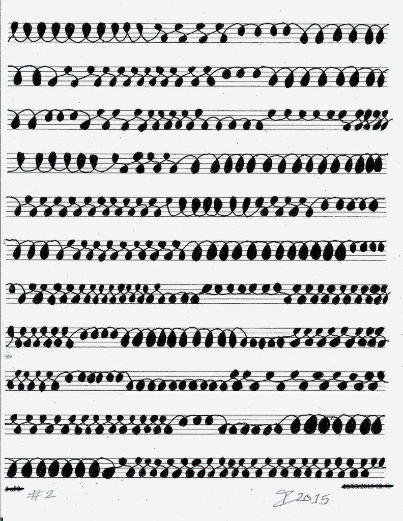 28421 || 1479 || Gestural Process Cursive Drawing #2 || £70 Unframed || 172