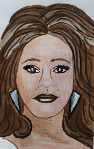 Whitney houston Portrait by Jade's Gallery