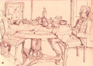 breakfast table by blodwyn jones