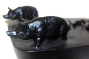 Black Pigs (detail) by David Johnson