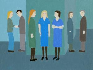 Corridor Conversation by David Beales