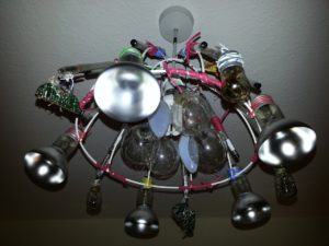 Dead Bulb Chandelier 1 by Luc(e) Raesmith
