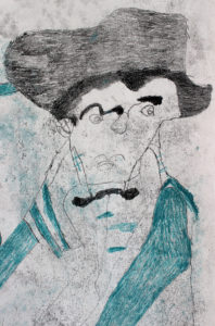Man with a Hat by Debbie Lumb
