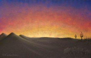 Desert Sunset by Carla Jones