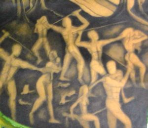 detail of massacre of the innocents by Dawn Clarke