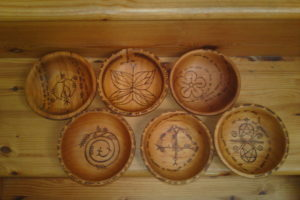 Ogham divination bowls -which one speaks to you? by Hayley Hartmann