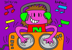 DJ RAINBOW IN THE HOUSE by NATALIE PRIEST